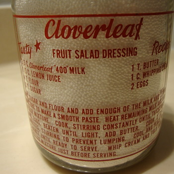 CLOVERLEAF DAIRY..SALT LAKE CITY UTAH..RED PYRO QUART MILK BOTTLE - Bottles