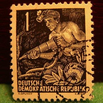 1953-54 Deutsche Demokratische Republic 5 Stamp