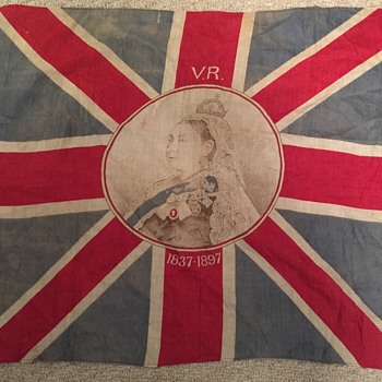 Queen Victoria Jubilee Cloth Flag - Advertising