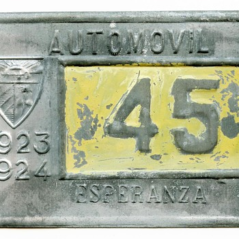 1923 Island of Cuba License Plate - Classic Cars