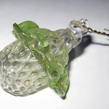 Small, heavy, molded glass acorn Christmas ornament. Whimsy? - Christmas