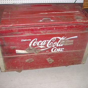 Coca-Cola Coke Chest WOODEN - Coca-Cola