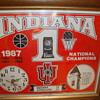 INDIANA UNIVERSITY BASKETBALL CLOCK...1987 NATIONAL CHAMPIONS