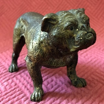 Antique Vienna Bronze Bulldog - Animals