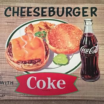 1960's Coca-Cola Cardboard Menu Ads - Coca-Cola