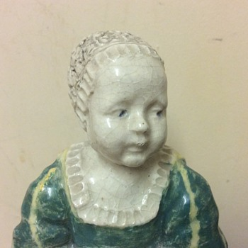 19c Pottery Figure James II England (as child) image taken from Jacobite painting Turin gallery - Figurines