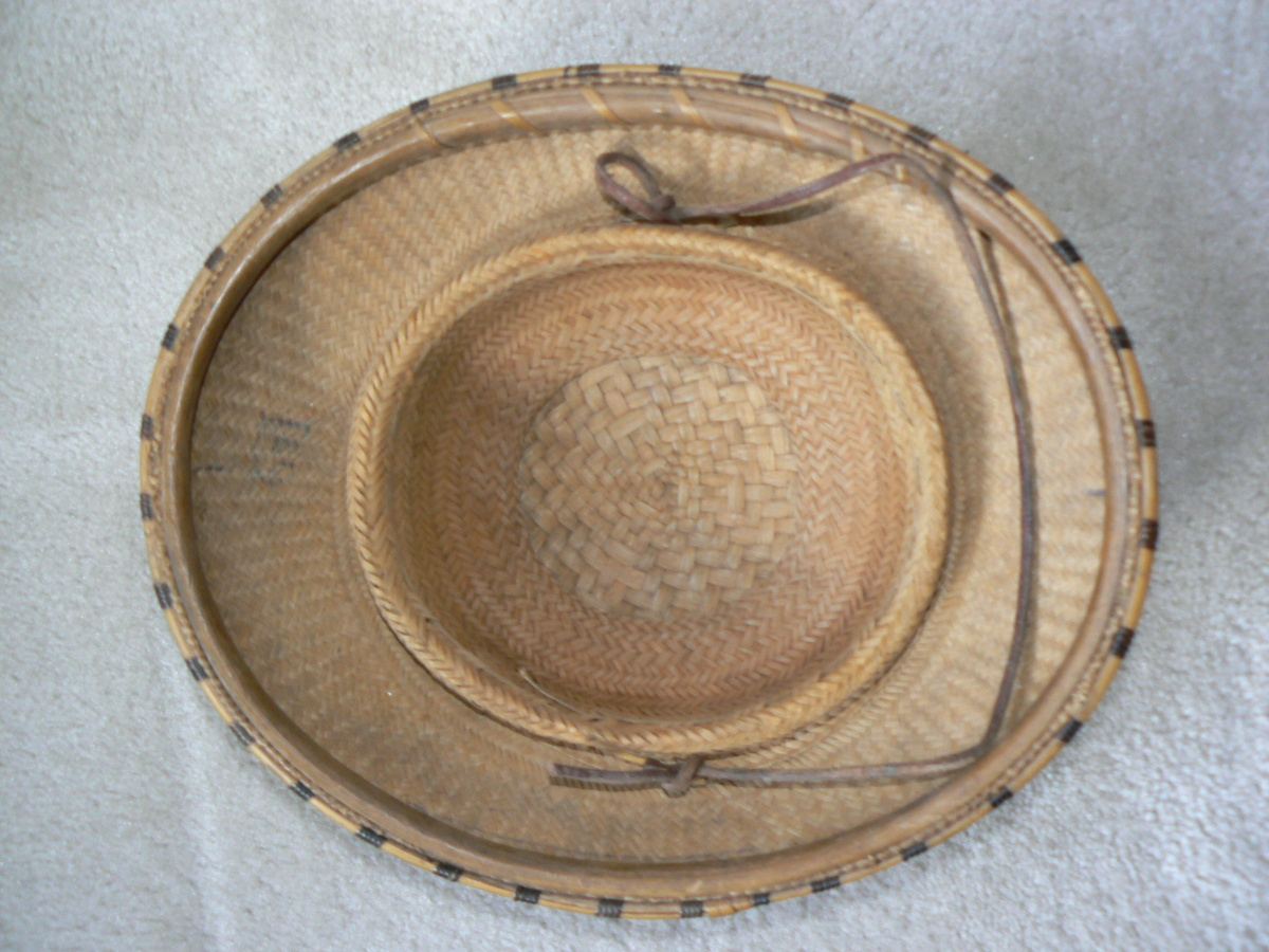 80e8618d WWII era woven bamboo hat - military? | Collectors Weekly