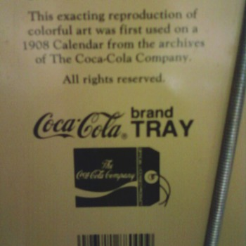 back of lady in red tray - Coca-Cola