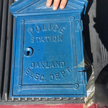 Oakland Police Department Gamewell Cast Iron Phone Call Box - Telephones