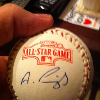 autographed all-star baseball