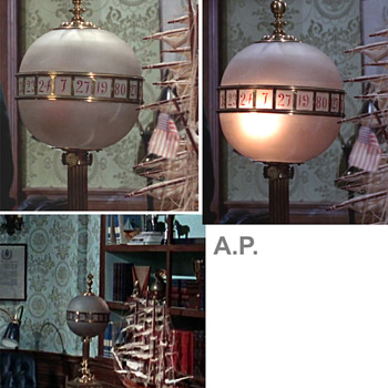 Vintage globe  lamp  with numbers to Identify, thanks  - Lamps