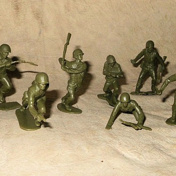 Marx Toy Soldiers US Army WWII Marx Battleground Play Set 1960s-70s - Toys