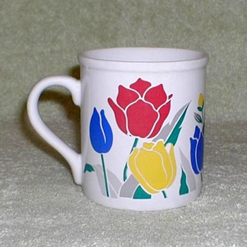 Coffee Mug - Tulips Pattern