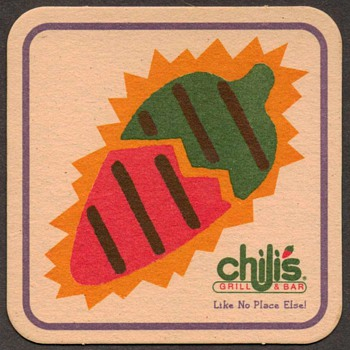 "Bar Mat - ""Chili's Grill & Bar"" - Advertising"