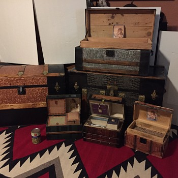 My Steamer trunk collection of 6 trunk  - Victorian Era