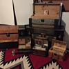 My Steamer trunk collection of 6 trunk