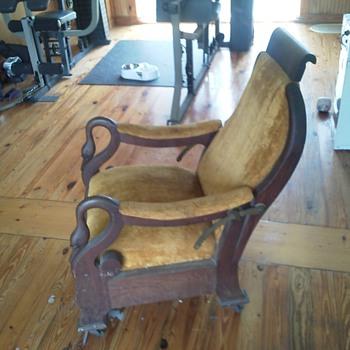 1890s goosneck recliner - Furniture