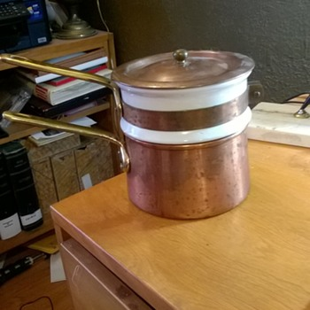 Copper and Porcelain Double-boiler - Kitchen