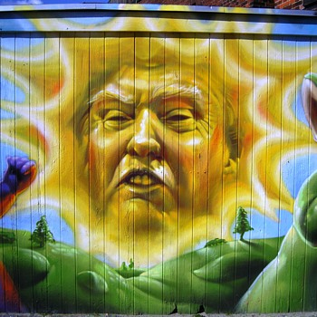 Street art in Copenhagen April 18th 2017 - Politics
