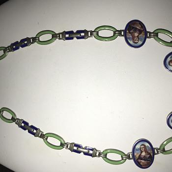 Unusual enamel necklace that I love - Costume Jewelry