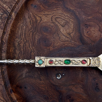 Spectacular Celtic spoon or is it? - Silver