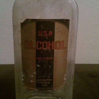 U.S.P. Alcohol 190 Proof bottled by Adolph Coors And Company Golden,Co - Bottles