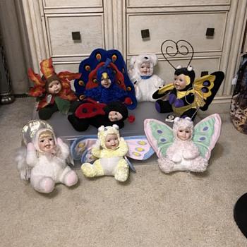 Cuddle kids porcelain dolls - Animals