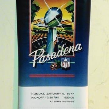 Super Bowl XI Ticket Stub Replica Poster
