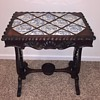 Antique Side Table Delft Tile Top