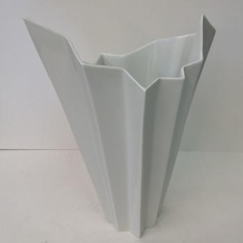 RARE White OP Art Vase HUTSCHENREUTHER Fuchs era 1970 - Pottery