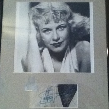 Signed Ginger Rogers Still - Movies