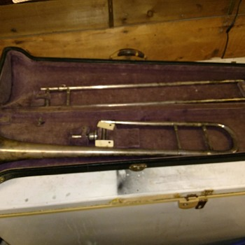 H.N. White American Standard Cleveland Co. All Silver Small Bore Trombone - Musical Instruments