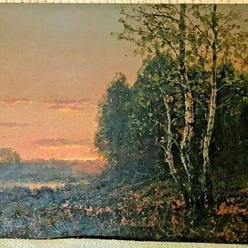 Spring Marsh at Dawn by Wiktor Korecki  / Viktor Korecki  (1897-1980, Poland)  - Fine Art