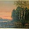 Spring Marsh at Dawn by Wiktor Korecki  / Viktor Korecki  (1897-1980, Poland)