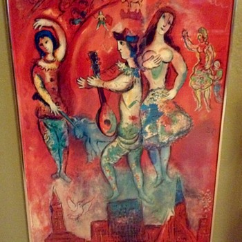 "1966 Fine Art Lithographic Poster ""Carmen"" by Marc Chagall - Fine Art"