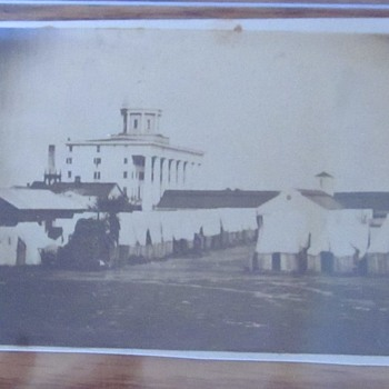 CDV photo of US Officer's Civil War hospital at Fortress Monroe,Virginia. - Military and Wartime