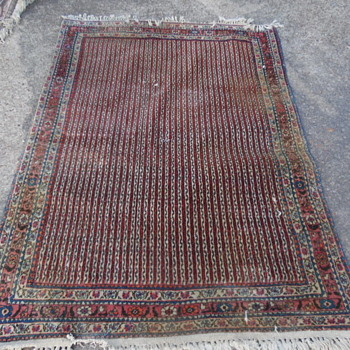 Old Rug Cloth Tag Abad With Numbers 204243