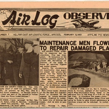 "1953 - USAF ""Air Log Observer"" Newspaper - Paper"