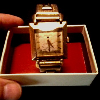 """Gruen"" Precision Men's ""Deco"" Watch /Gold Filled Case-Glass Crystal /Circa 1930's-40's - Wristwatches"