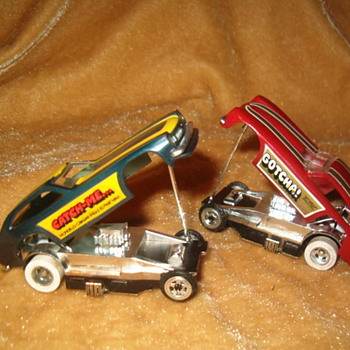 TYCO PRO II GOTCHA/CATCH ME FUNNYCAR SET H.O. SCALE - Model Cars