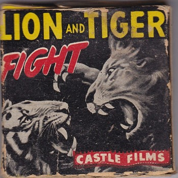 Castle Films 8mm Lion and Tiger Fight