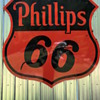 Rare 1955 Phillips 66 Diecut Double Sided Porcelain