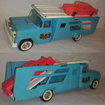 "Recent find. Buddy L ""Daytona"" Race car hauler.... @@ - Model Cars"