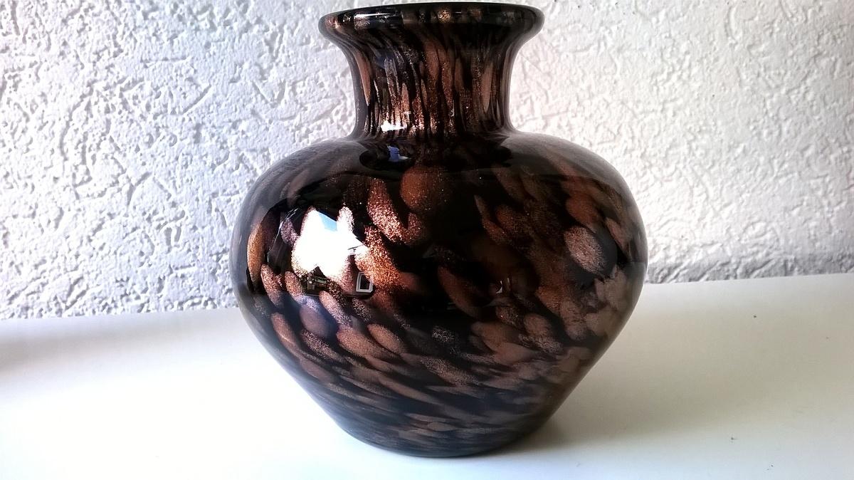 Black gold fleck art glass vase murano aventurine collectors black gold fleck art glass vase murano aventurine collectors weekly reviewsmspy
