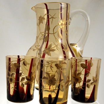 Harrach Water Set - Art Glass
