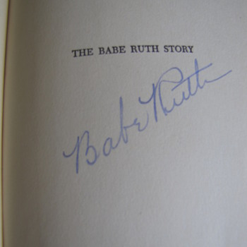 Hardback Edition of the BABE RUTH STORY Signed by Babe Ruth - Baseball