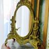 Antique Nouveau French Gilt Bronze Swivel Mirror Desktop Stand
