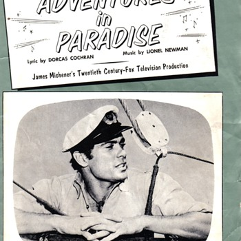 Adventures in Paradise Sheet Music - Music Memorabilia