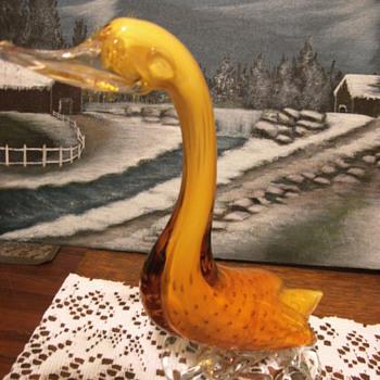Art Glass Swan/Duck/Goose - Art Glass