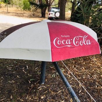 Vintage Fibreglass Coca Cola Umbrella - Coca-Cola